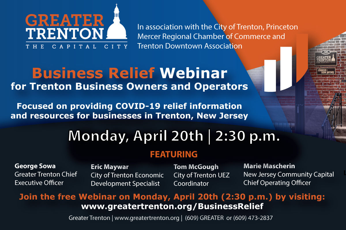 Business Relief Webinar Details for Trenton Businesses