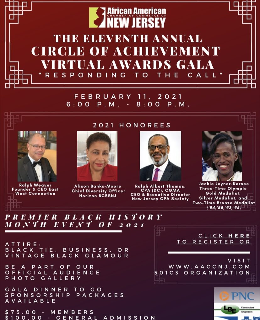 AACCNJ Hosts 11th Annual Black History Month Awards Gala